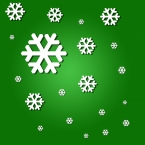 snowflakes-on-green-background