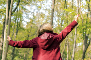 Arms Outstretched, Women, Forest, Only Women, Nature